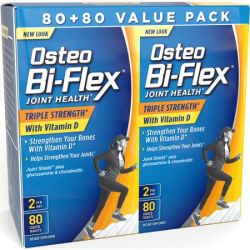 Osteo Bi-Flex Triple Strength Joint Care Vitamin D3 Coated Caplets, 80 count, (Pack of 2)