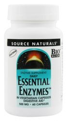 Source Naturals Daily Essential Enzymes™ -- 500 mg - 60 Vegetarian Capsules