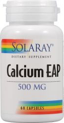 Calcium EAP -- 500 mg - Solaray  60 Capsules