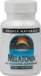 Source Naturals Melatonin -- 10 mg - 120 Tablets