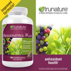 trunature®  Resveratrol Plus 250 mg, 140 Softgels
