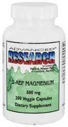 2AEP  Magnesium 200 Capsules,500 Mg,  NCI Advanced Research (Dr.Hans Nieper)