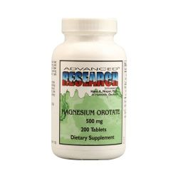 Magnesium Orotate 500 mg - 200 tablets- Advanced Research NCI (Dr. Hans Nieper)