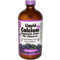 Bluebonnet Nutrition, Liquid Calcium Magnesium Citrate Plus Vitamin D3, Blueberry, 16 fl oz (472 ml)