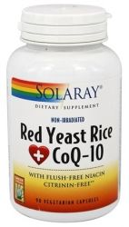 Solaray - Red Yeast Rice Plus CoQ-10 - 90 Vegetarian Capsules