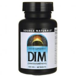 Source Naturals DIM Diindolylmethane -- 100 mg - 60 Tablets