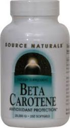 Source Naturals Beta Carotene -- 25000 IU - 250 Softgels