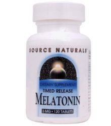 Source Naturals Melatonin Timed Release -- 3 mg - 120 Tablets