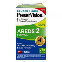 Bausch & Lomb PreserVision AREDS 2, 120 count Formula Eye Vitamin Soft Gels,