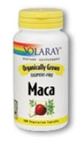 Solaray Organically Grown Maca -- 100 Vegetarian Capsules