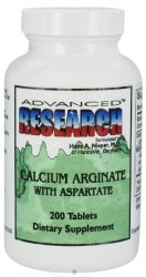 Calcium Arginate with Aspartate 200 Tbs. Advanced Research NCI (Dr. Hans Nieper)