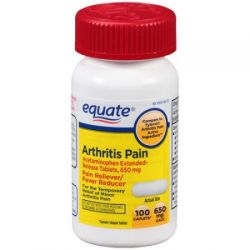 Equate Arthritis Pain  Extended-Release Pain Reliever Caplets, 650mg, 100 count