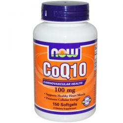 Now Foods, CoQ10, 100 mg, 150 Softgels