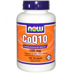 Now Foods, CoQ10, 100 mg, 180 Vcaps