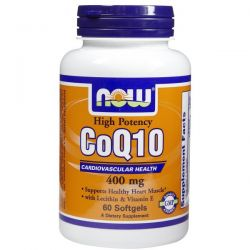 Now Foods, CoQ10, High Potency, Cardiovascular Health, 400 mg, 60 Softgels