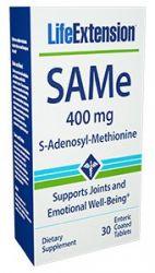 SAMe (S-Adenosyl-Methionine) 400 mg, 30 enteric coated tablets