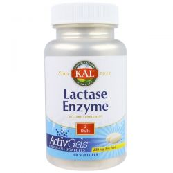 KAL, Lactase Enzyme, 250 mg, 60 Softgels