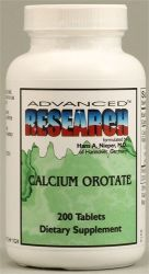 Calcium Orotate 500mg (Large size) 200 Capsules Advanced Research NCI (Dr. Hans Nieper)