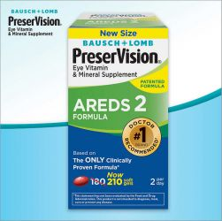 PreserVision® AREDS2 Formula,   180   Soft Gels Bausch & Lomb