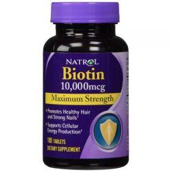 Natrol Biotin Maximum Strength 10,000 mcg 100 Tabs
