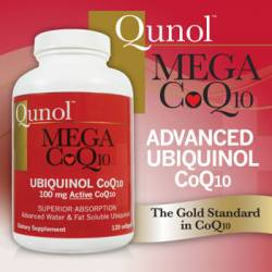 Qunol™ Mega CoQ10 100 mg Ubiquinol, 120 Softgels