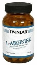 L-Arginine 500 mg 100 capsules Twinlab