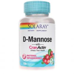 D-Mannose with CranActin 500/200 mg 120 Capsule - Solaray