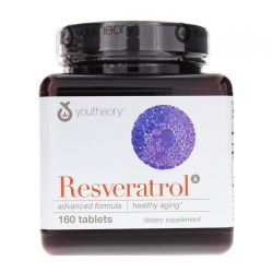 Resveratrol Anti-Aging Benefits - 160 Tablets by Youtheory
