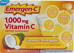 Emergen-C Vitamin C Fizzy Drink Mix Coconut-Pineapple -- 1000 mg - 30 Packets