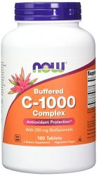 NOW FOODS  Vitamin C-1000 Complex, 180 Buffered Tablets