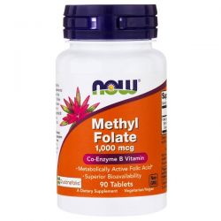 Now Foods, Methyl Folate, 1,000 mcg, 90 Tablets
