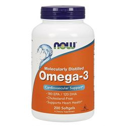 Now Foods, Omega-3,  200 Softgels Cardiovascular Support,By Now Foods