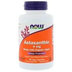 Now Foods, Astaxanthin, 4 mg, 90 Veg Capsules