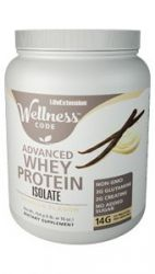 Wellness Code™ Advanced Whey Protein Isolate Vanilla Flavor 454 grams (1 lb. or 16 oz.)