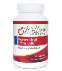 Resveratrol Ultra 500 ™ Extrato de alta potência 98%  Wellness Resources 90 Capsulas
