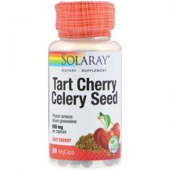 Solaray, Tart Cherry Celery Seed, 620 mg, 60 VegCaps