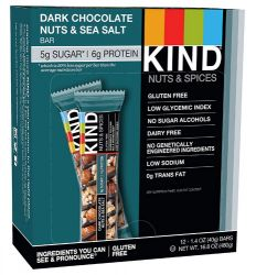 Kind Nuts & Spices Bars Dark Chocolate Nuts & Sea Salt -- 12 Bars