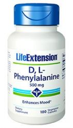 D, L-Phenylalanine Capsules 500 mg, 100 vegetarian capsules Life Extension