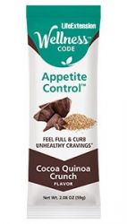 Wellness Code™ Appetite Control™ Bar: Cocoa Quinoa Crunch 12  Bars  (59g)  Life Extension