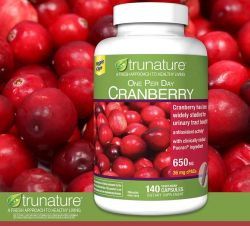 trunature Cranberry 650 mg., 140 Vegetarian Capsules