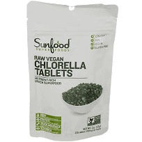 Sunfood Superfoods Broken Cell Wall Chlorella Tablets (225 Tablets)