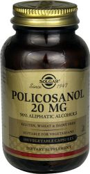 Solgar – Policosanol 20 mg, 100 Vegetable Capsules
