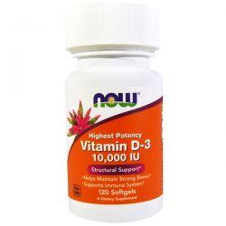 Now Foods, Vitamin D-3 High Potency, 10,000 IU, 120 Softgels