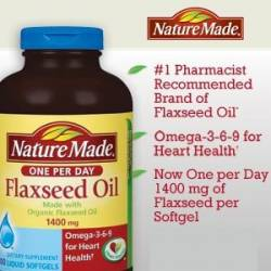 Nature Made® Organic Flaxseed Oil 1,400 mg, 300 Softgels