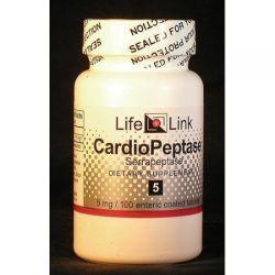 CardioPeptase  (Serrapeptase)5mg LifeLink 100 Tabs