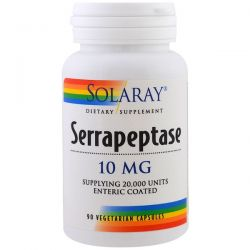 Serrapeptase 10 mg 90 capsules: Solaray