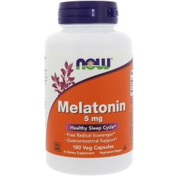 Now Foods, Melatonin, 5 mg, 180 Veg Capsules