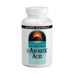 L-Aspartic Acid Powder 100 Gram Source Naturals