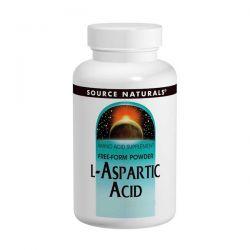 L-Aspartic Acid Powder 100 Gram Source Naturals