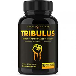 Tribulus Terrestris 2000 mg  Supplement     For Men & Women - 90 Vegan Capsules